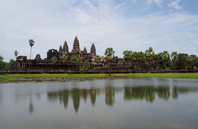 cambodia angkor reflection diethelm